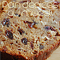 Pain d'epices au müesli