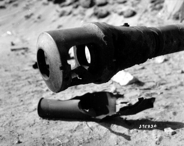 Gueule d'un canon allemand de 88 mm