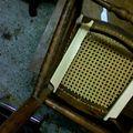 Chaise haute d'enfant restaurée et consolidée...