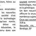 Pierre bordage, ceux qui sauront/ nouvelle vie : issn 2607-0006