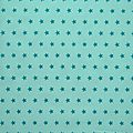 Tissu étoile bleu lagon - froufrou