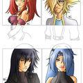 4 avatars