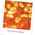 Haricots géants à la tomate et à l'ail
