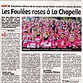 Les foulées roses à la chapelle - 04/06/2016