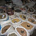 L'étal des grains au marché des mouches
