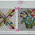Les fleurs du mardi - blocs 1 et 2 by clochettebricole