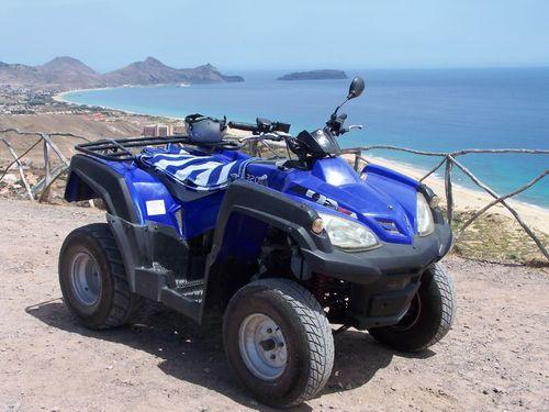 Notre quad à Porto Santo