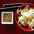 Salade de chou chinois au sésame