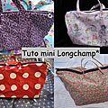 D'après mon tuto du mini Longchamp*