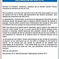 Declaration des elus cftc au cce du 27 mars 2018