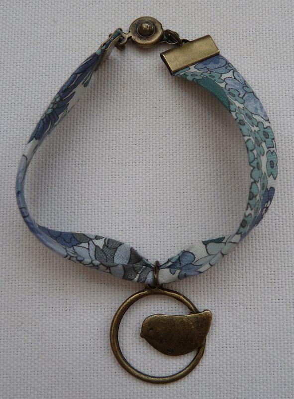 Bracelet biais Liberty grisé AG