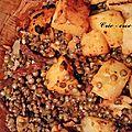 Lentilles au cook'in