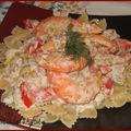 Pâtes au thon et aux crevettes