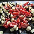 Salade de légumes confits