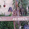 Ancienne planche bienvenue au jardin