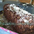 Cake chocolat - noix de coco