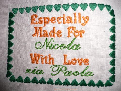 etichetta nicola e logo