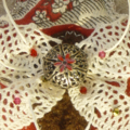 Details of broch Red Butterfly