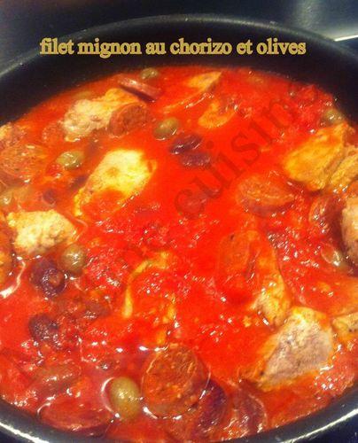 Filet mignon au chorizo et aux olives