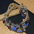 Bracelet bleu en corde
