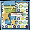 42. bleu, blanc, vert, chocolat et jaune - chiffres