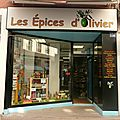Les Épices d'Olivier Châlon sur <b>Saône</b> <b>Saône</b> et <b>Loire</b> devanture vitrine jeu de mot humour photo