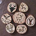 Décorations en bois pour le sapin