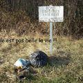 Dépôt d'ordures interdit