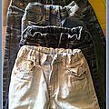 La pie recycle ... un sac de plage en jeans