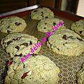 Cookies moelleux chocolat noix de pecan