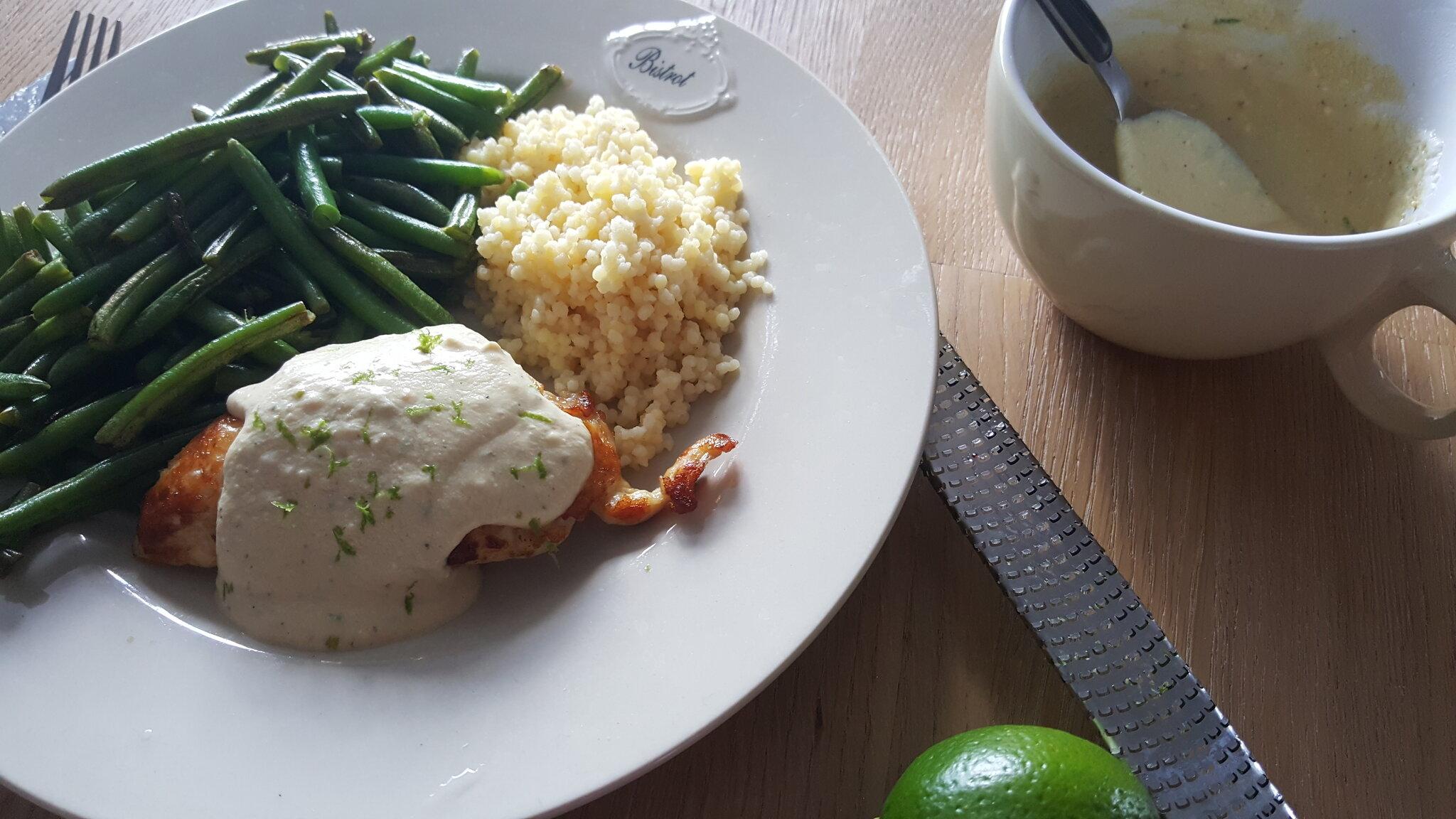Une sauce bien estivale mais relevée pour le poulet