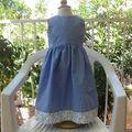 Robe chasuble bleue IM1141 - devant