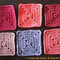 Pink square blanket #16