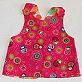 Petite robe croisée dans le dos 3/6 mois