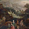 <b>École</b> <b>flamande</b> du XVIIe siècle, atelier de Gillis van Coninxloo, Paysage avec le prophète Osée