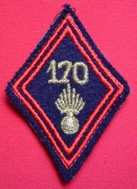170e RI losange de bras d'officier