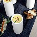 Soupe glacée de poivrons jaunes