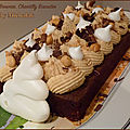Cake brownie chocolat, chantilly biscuitée by michalak