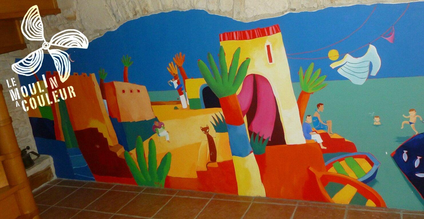 fresque murale chez un particulier