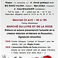 <b>Marché</b> du <b>Livre</b> et de la <b>Rose</b> de la Sant Jordi à Elne