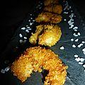 Crevettes panées au curly