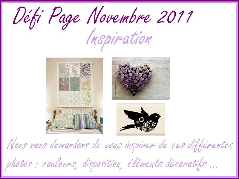 Défi Page Novembre 2011