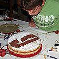 Gâteau d'anniversaire garcon