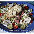 Salade poulet, boeuf