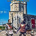 AOUT 1372 - Bataille de Soubise, en Saintonge, <b>Bertrand</b> Du Guesclin emmène son prisonnier le captal de Buch à La Rochelle