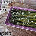 Asperges vertes rôties ail-gingembre-citron