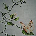 <b>Papillon</b> et fleur
