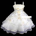 Destockage 15€ ! robe fillette jaune pâle avec fleurs ivoires