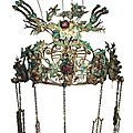 Qing Dynasty Chinese Provincial <b>Kingfisher</b> Headdress