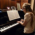 Margaux is playing Piano at Dubuisson's house